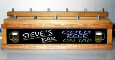 Lighted 11 Beer Tap Display 2 Tier / Personalized Neon Style Font