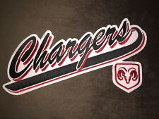 Rare Dodge Chrysler Chargers Hockey Jersey Front Patch Crest