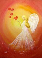 SilwiArtAtelier Engelbilder /Engelkarte xl Liebe Verlobung Schutzengel angelcard