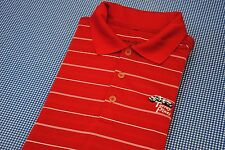 TORREY PINES NIKE GOLF POLO SHIRT RED WHITE STRIPES SMALL S