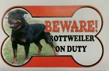 Rottweiler Beware of the dog sign 12cm x 21cm loads more breads available