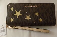 NWT Michael Kors ILLUSTRATIONS Stars & Studs SIGNATURE TRAVEL CONTINENTAL Wallet