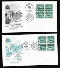 #1031A/1054A  1 1/4c Palace of the Govenors - Set of 2 Artmaster FDCs B4&2Pair