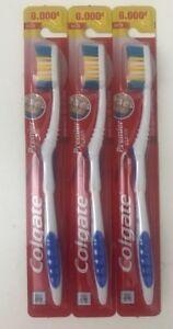 3 Colgate Premier Toothbrush-Extra Clean Firm Hard Full Head Freshness-Blue