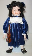 Doll by Heritage Mint Fine Porcelain America's Girl with Violin Made in Taiwan