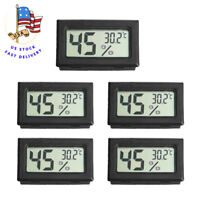 US 5 PCS LCD Digital Thermometer Humidity Meter Hygrometer Indoor Temperature