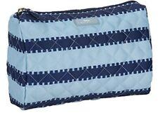 SCOUT Packin' Heat Makeup Bag Large Light Blue & Dark Blue Pattern Tribeca NWT