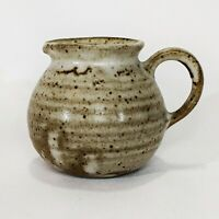 Hand Thrown Stoneware Ceramic Glazed Studio Pottery Personal Creamer Pitcher
