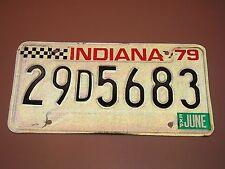 ORIGINAL 1979 INDIANA HAMILTON COUNTY LICENSE PLATE # 29D5683
