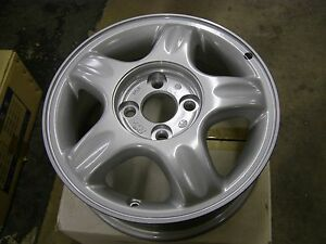 "NOS OEM Daewoo 1999 2000 2001 2002 Lanos Aluminum Wheel 14x5.5"" Part # 96303778"
