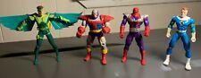 1994 Marvel X-Men Toy Biz Action Figures Lot 4 Senyaka, Fantastic Four, Vulture