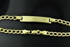 14K Solid Yellow Gold Curb Link Kids Baby I D Bracelet  6 inches  2.80 grams
