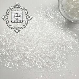 Sparkle White Edible Glitter - 1/4 oz - Food Product - FDA approved Kosher Vegan