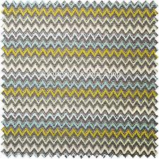 10 Metres Of Grey Green Blue White Chevron Stripe Soft Pattern Upholstery Fabric