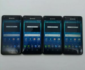 Lot of 4 Kyocera Hydro Shore C6742A Cricket 8GB Black *Check IMEI* LCD Issue