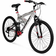"Men's Mountain Bike 26"" Aluminum Frame Bicycle Shimano Full Suspension NEW"