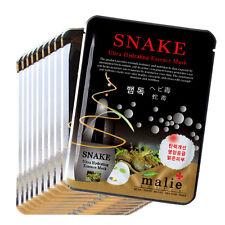 11 PCS Snake Facial Skin Care Mask Pack Essence Collagen Moisture Malie