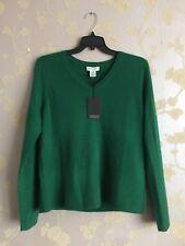 adrienne vittadini Women's 100% 2-ply cashmere Sweater Jumper Size:XL BNWT