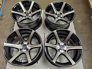 15x8 Black Wheels Honda Accord Civic Corolla Mini Cooper Mazda Miata Rim 4x100