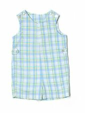 Boy Imp Originals Easter Holiday Blue Plaid Romper Shortall Jon John Size 4