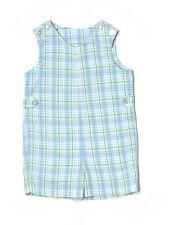 Boy Imp Originals Easter Holiday Blue Plaid Romper Shortall Jon John Size 4