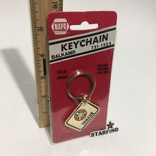 Napa Balkamp YAMAHA Keychain VINTAGE Brass Enamel Metal Key Chain Ring Rare SEE
