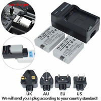 TWO LP-E5 Battery / Charger For Canon Rebel T1i XS XSi EOS 500D 1000D Kiss X2 X3