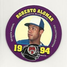 1994 MSA King B - Quality Meat Snacks - Disc - #20 - Roberto Alomar - Blue Jays