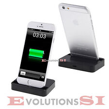 BASE CARGADOR IPHONE 5 5S 6 PLUS ESTACION DE CARGA CHARGING DOCK SOPORTE 001