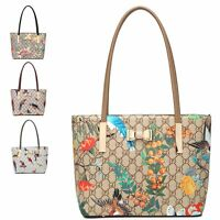 Ladies Faux Leather Handbag Tropical GD-Print Shoulder Bag Handbag Tote MA34938