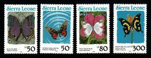 Sierra Leone  Butterflies SET 1990 - MNH