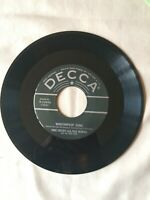 """BING CROSBY WITH FRED WARING 45 RPM """"KENTUCKY BABE"""" DECCA 9-23990 VG+1950"""