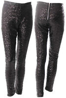 Sequin Trouser Sequins Trousers In Black Sizes 6-16 UK Sequin Jeggings Pants