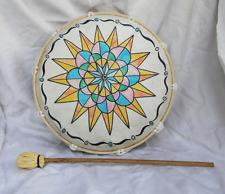 Grand fait à la main bhodran/chamaniques tambour sur cadre et Batteur - 28 cm (D)