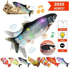 New listing Electric Moving Fish Cat Toy Colorful Glowing Singing Wagging Fish Cat Toy Kicke