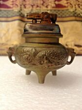 Vintage Prince Automatic Superlighter Table Lighter Brass Chinese Peacocks L@@K