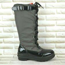 ILSE JACOBSEN Womens Black Leather Knee High Long Winter Boots Size 7.5 UK 41 EU