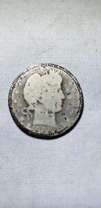 1905-S Silver Barber Quarter Better Date