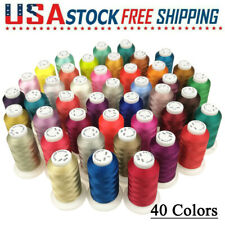 Premium Polyester Brother Machine Embroidery Thread Set - 40 Colors