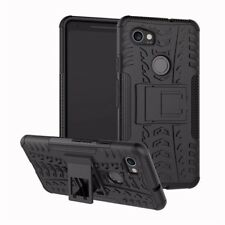 Heavy Duty ShockProof Kick Stand Case Builder Cover for Google Pixel 2 (BLACK)