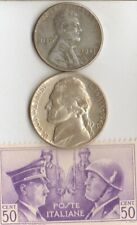 -*WW2-two RARE stamps +-3-*german SILVER EAGLE coins(.900%)