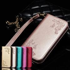 Leder Flip Wallet Case Handy Tasche Schutz Hülle Bumper Magnet Stand Cover Etui
