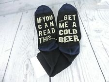 Men's Socks If You Can Read This Get Me Another Beer Sz 9 - 11 Novelty Gift Fun