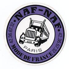 Autocollant/Sticker Vintage NAF NAF MODE DE FRANCE PARIS TOP !