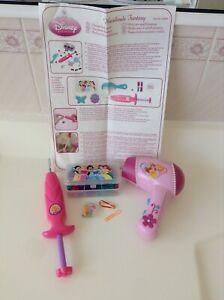 Disney Princess Hair Beads Fantasy + hairdryer pretend play working