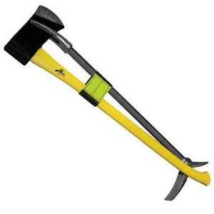"Leatherhead Tools K-Lb30-2 Irons, 30"" Halligan & 6 Lb. Flat Axe W/ 36"" Yellow"