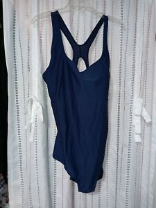 Speedo Powerflex Blue  One Piece Swimsuit sz 22