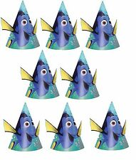 Disney Finding Dory Cone Hats (8) Birthday Party Supplies