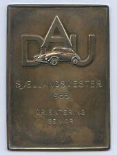 Denmark Zealand Champion DAU Automobile Sports Club 1965 Silver Prize Medal BOX