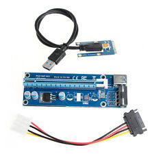 Mini PCI-E Express 1x To16x USB 3.0 Extender Riser Card Adapter SATA Power Cable